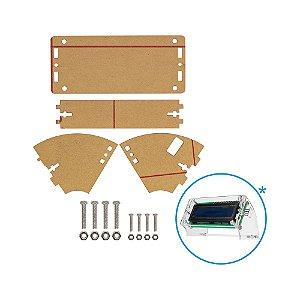 Suporte Acrílico Transparente para Display 16x2