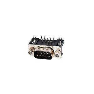 Conector DB9 90 Graus D-Sub PCB (Macho)