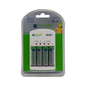 Carregador de Pilhas AA / AAA Bateria 9V BAP-551 4 Pilhas