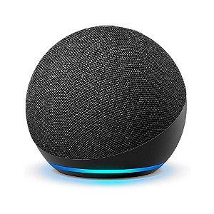 Echo Dot Smart Speaker com Alexa 4ª Geração (Preta)