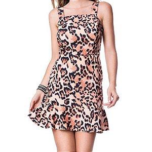 Vestido Recortes - Onça