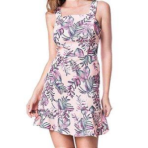 Vestido Recortes - Folhagem