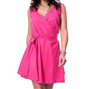 Vestido Linho - Rosa