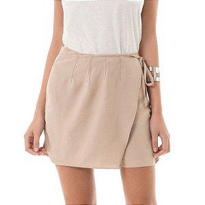 Shorts Sofisticati com Transpasse - Bege