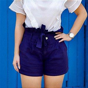 Shorts Linho - Azul Marinho