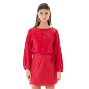 Camisa Poplin - Vermelho