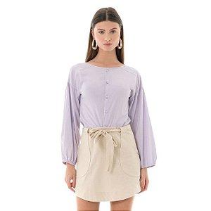 Camisa Poplin - Lilás