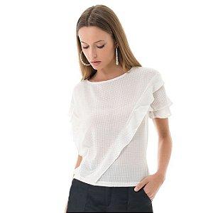 Blusa Xadrez - Branco