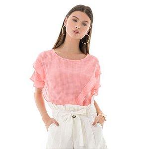 Blusa Xadrez - Rosa