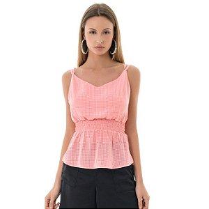 Blusa Alcinha Xadrez - Rosa