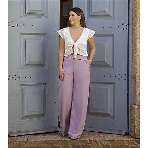 Pantalona com Cinto - Lilás