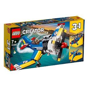 Blocos de Montar Lego Creator Aviao de corrida 3 em 1 31094