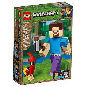 Lego Minecraft BigFig Steve com Papagaio 21148 159 pcs