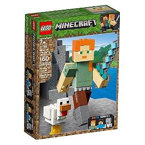 Lego Minecraft BigFig Alex com Galinha 21149 160 pcs