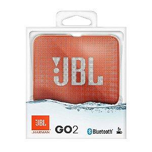 Nova Jbl Go 2 Laranja A Prova D'agua Bluetooth by Harman