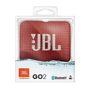 Nova Jbl Go 2 Vermelho A Prova D'agua Bluetooth by Harman
