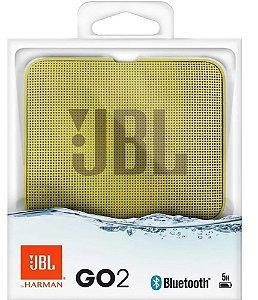 Nova Jbl Go 2 Amarelo A Prova D'agua Bluetooth by Harman