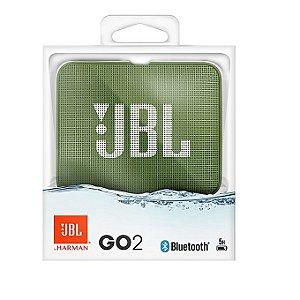Nova Jbl Go 2 Verde A Prova D'agua Bluetooth by Harman