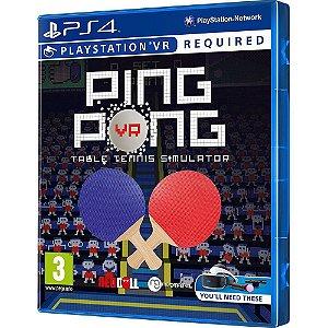 Jogo Mídia Física Ping Pong Vr Table Tennis Simulador Ps4