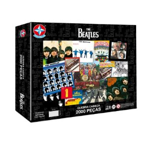 Quebra Cabeça Puzzle 2000 Peças The Beatles Original Estrela