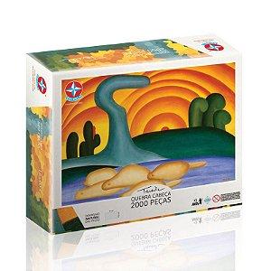 Brinquedo Quebra Cabeça Puzzle 2000 Peças Sol Poente Tarsila