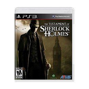 Jogo Mídia Física The Testament Of Sherlock Holmes Para Ps3