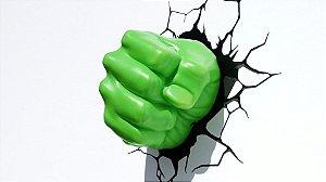 Nova Luminária De Parede Punho Do Hulk 3d Light Fx