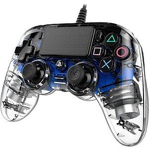 Controle Ps4 Nacon Wired Illiminated Azul Com Fio