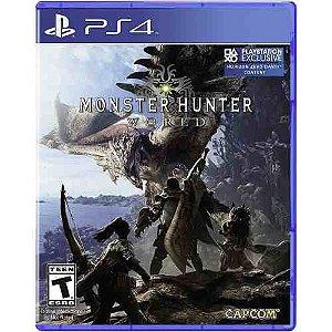 Jogo Novo Mídia Física Monster Hunter World Para Ps4