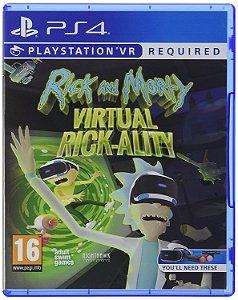 Jogo Mídia Física Rick And Morty Virtual Rck Ality Ps4 Vr