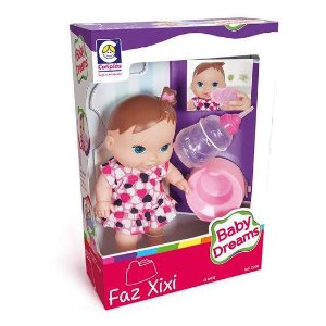 Boneca Baby dreams Faz Xixi Cotiplás