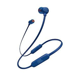 Fone de Ouvido Bluetooth Sem Fio JBL Original Azul T110BT
