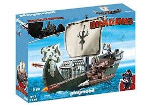 Brinquedo Playmobil Dragons Navio De Caça Aos Dragões 9244