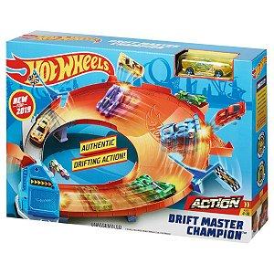 Nova Pista Hot Wheels Campeonato De Drifting Mattel GBF81