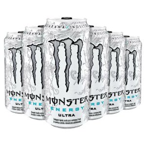 Bebida Monster Energy Ultra Caixa Com 6 Energético 473 Ml