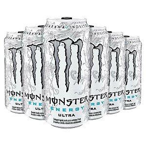 Energetico Monster Energy Ultra Zero de 473mL Caixa com 6