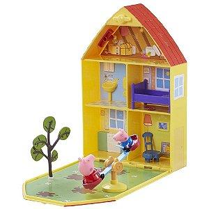 Brinquedo Casa Com Jardim Da Porca Peppa Pig Original Dtc