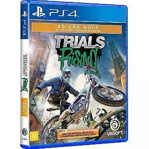Jogo Novo Midia Fisica Trials Rising Gold Edition para Ps4