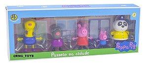 Novo Kit de Bonecos Peppa Pig Passeio na Cidade Dtc 4707
