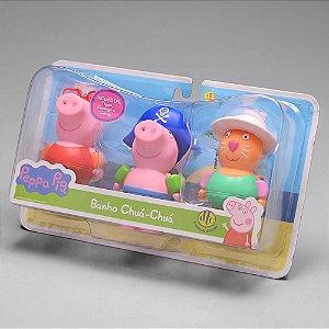 Brinquedos de Banho Bonecos Peppa Pig Banho Chua Chua 4827