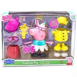 Novo Brinquedo Peppa Pig Fashion Troca de Roupa Dtc 4704