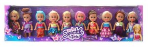 Nova Coleçao Mini Sparkles com 10 Sparkles Girlz Dtc 4760