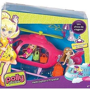 Boneca Polly Pocket Helicóptero Popstar Mattel 7887-7