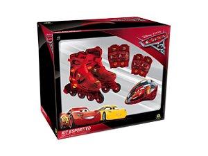 Kit Esportivo Patins Carros Disney Ajustável 29 ao 32 4088