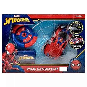 Carrinho Controle Remoto Spider Man Web Crasher 5842 Candide