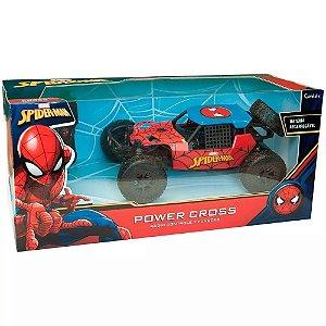 Carrinho De Controle Remoto Power Cross Homem Aranha Candide