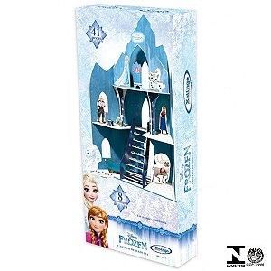 Playset Frozen Castelo De Madeira 41 Peças Xalingo 19321