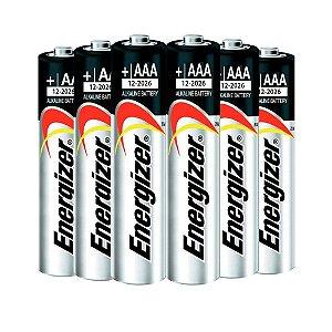 Pilha Alcalina AAA 1,5V Max Energizer Cartela com 6 Pilhas
