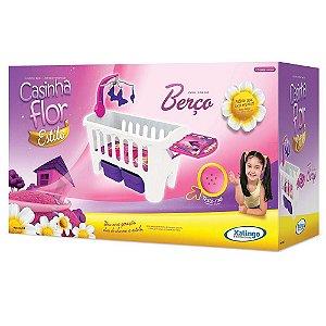 Brinquedo Berço Infantil Casinha Flor Xalingo 04798