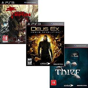 Combo De Jogos Ps3 Thief +Dead Island Riptide + Deus Ex